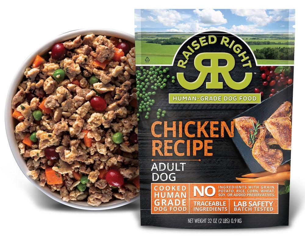 Chicken Adult Dog Recipe Raised Right Human Grade Pet Food